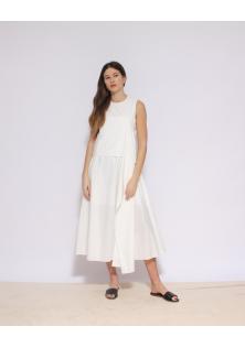 biała sukienka COS