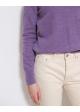 fioletowy kaszmir połgolf