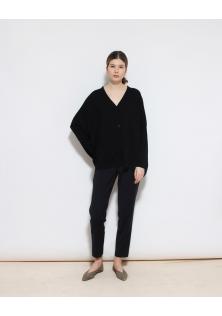sweter COS czarny zapinany