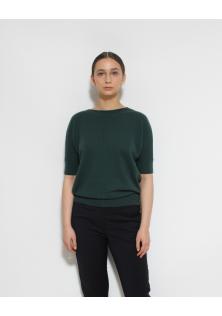 sweter zielony JAEGER krótki rękaw