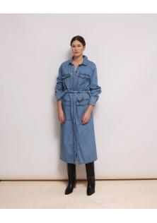 jeansowa sukienka zapinana H&M