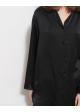jedwabna koszula czarna LADY AVENUE