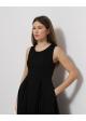 sukienka czarna COS dluga