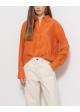 pomarańczowy jedwab h&m