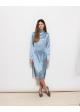 sukienka niebieska jedwabna H&m