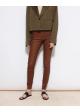spodnie skórzane brązowy MALENE BIRGER