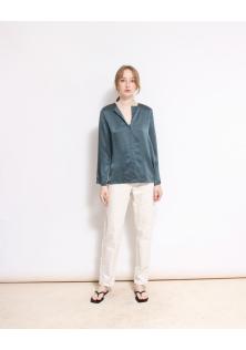bluzka jedwabna zielona COS