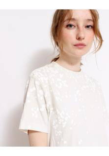 bluzka biała kropki H&M