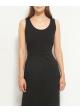 sukienka czarna z wycięciem