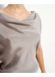 bluzka jedwabna szara WHIITE