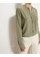koszula zielona jedwabna ginatricot