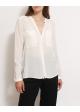 koszula jedwabna biała ZARA
