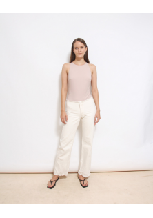 spodnie kremowe H&M STUDIO