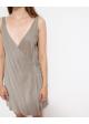 sukienka jedwabna szara na ramiączkach