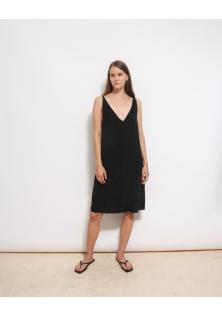sukienka jedwabna czarna COS