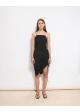 sukienka czarna drapowana H&M