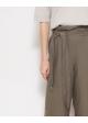 spodnie lniane zielone ZARA