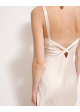 sukienka jedwabna kremowa