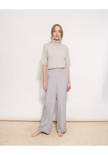 spodnie jedwabne fioletowe