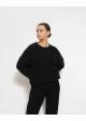 sweter czarny mohair blend H&M