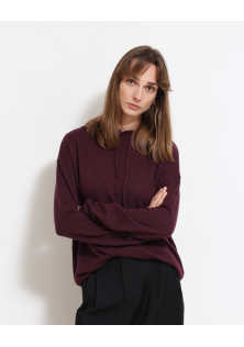 sweter fioletowy z kapturem