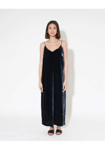 VELVET SILK BLEND DRESS
