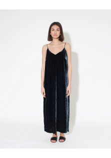VELVET SILK BLEND DRESS