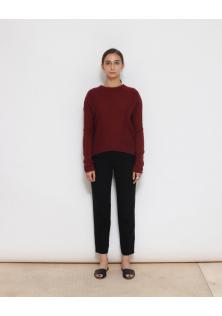 sweter bordo kaszmir/wełna Rails
