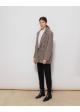 krótki płaszcz w kratke Woman Collection