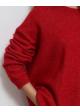 czerwony sweter just moher/wełna