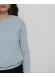 sweter błękitny kaszmirowy hollister