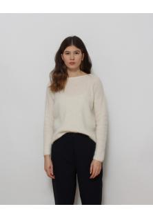 sweter biały moher/alpaca guziczki LA MAILLE SEZANE