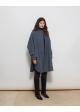 płaszcz niebieski MADSEN PELS cashmere/wool blend