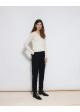 sweter biały wełniany COS