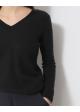 sweter czarny v