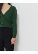 zielony sweter zapinany