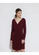 sukienka bordowa SAMSOE