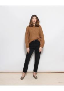 sweter brąz WOOL/ALPACA BLEND
