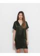 jedwabna sukienka  zielona COS