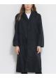 płaszcz cienki czarny