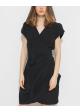 sukienka jedwabna czarna wiązana