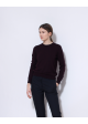 wełniany sweter bordowy COS