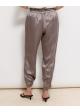 spodnie jedwabne ściągane na dole