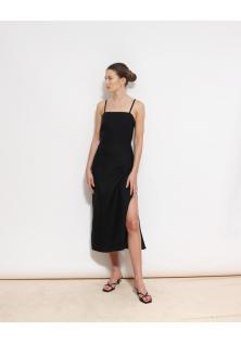 sukienka lniana czarna & OTHER STORIES