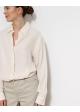 koszula jedwabna biała vintage