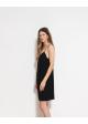 sukienka czarna na ramiączkach ARKET