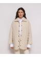 płaszcz biały pikowany